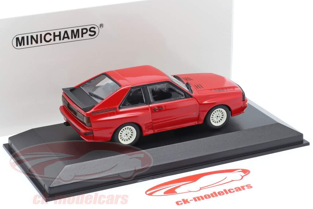 Audi Sport quattro Año de construcción 1984 rojo 1:43 Minichamps