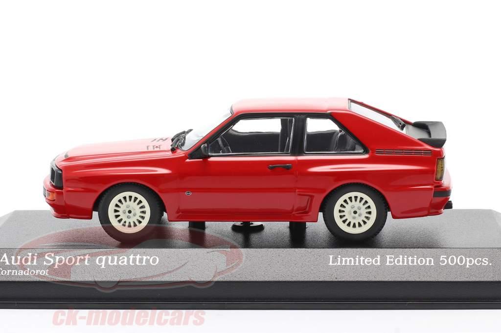 Audi Sport quattro Année de construction 1984 rouge 1:43 Minichamps
