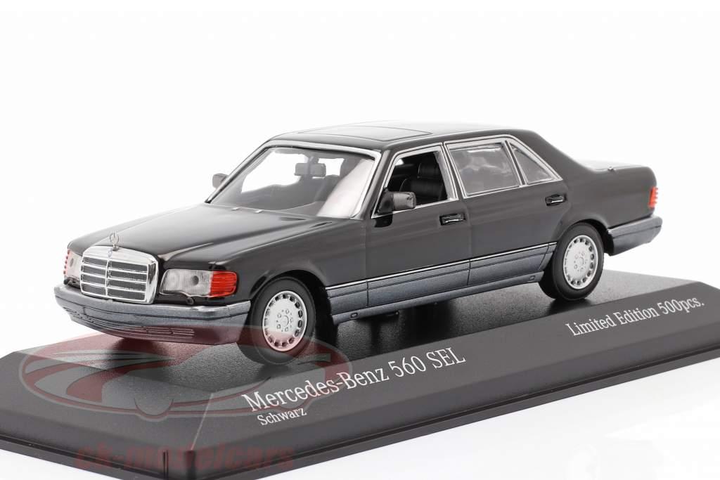 Mercedes-Benz 560 SEL (W126) year 1990 black 1:43 Minichamps