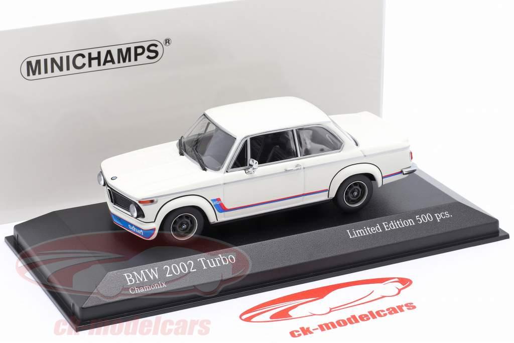BMW 2002 Turbo (E20) Baujahr 1973 weiß 1:43 Minichamps