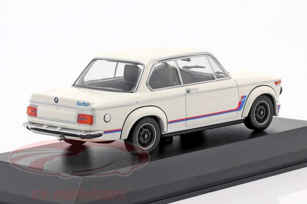 BMW 2002 Turbo (E20) year 1973 white 1:43 Minichamps