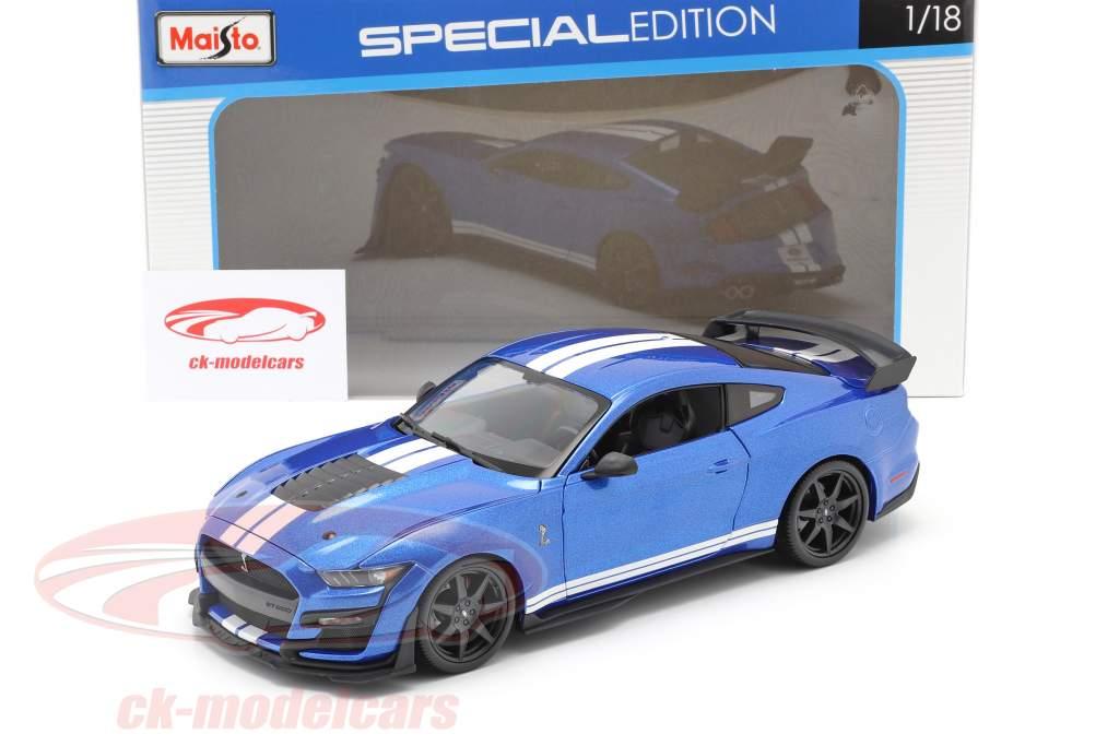 Ford Mustang Shelby Baujahr 2020 blau 1:18 Maisto