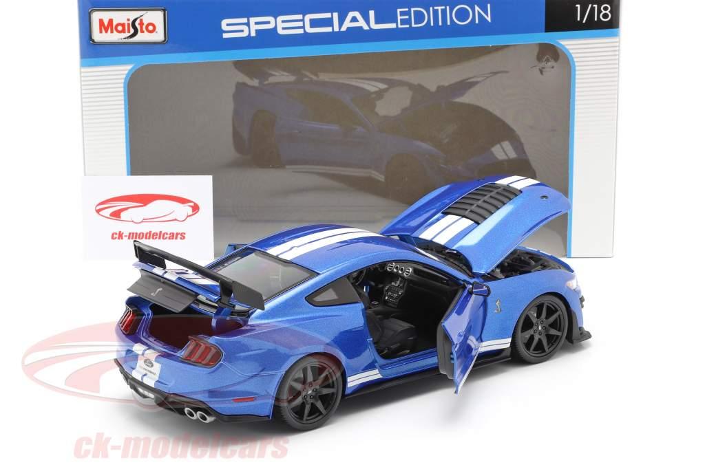 Ford Mustang Shelby år 2020 blå 1:18 Maisto