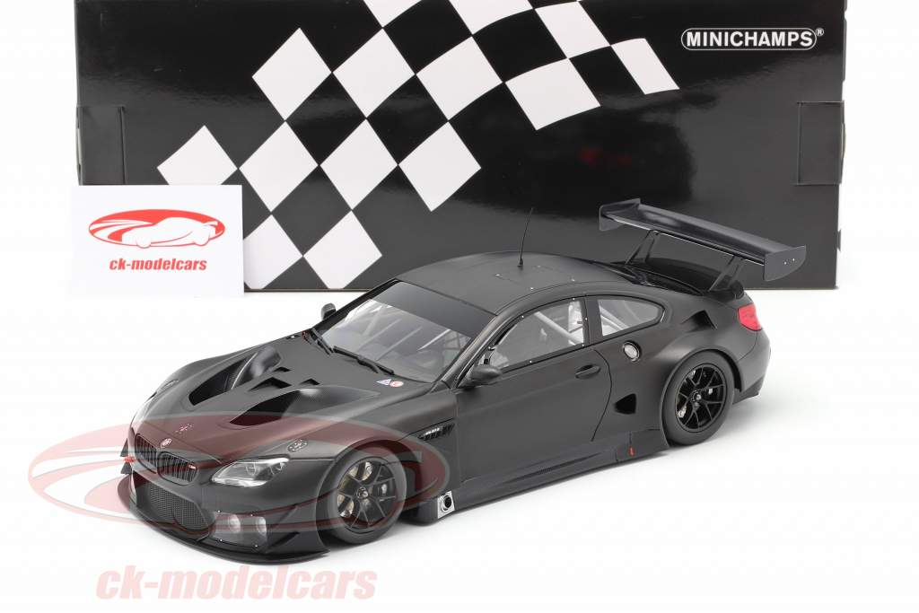 BMW M6 GT3 Plain Body Version year 2016 mat black 1:18 Minichamps