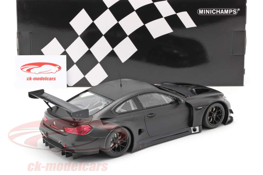 BMW M6 GT3 Plain Body Version Année de construction 2016 tapis noir 1:18 Minichamps