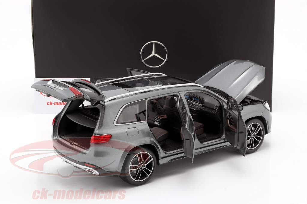Mercedes-Benz GLS class (X167) year 2019 selenite grey 1:18 Jaditoys