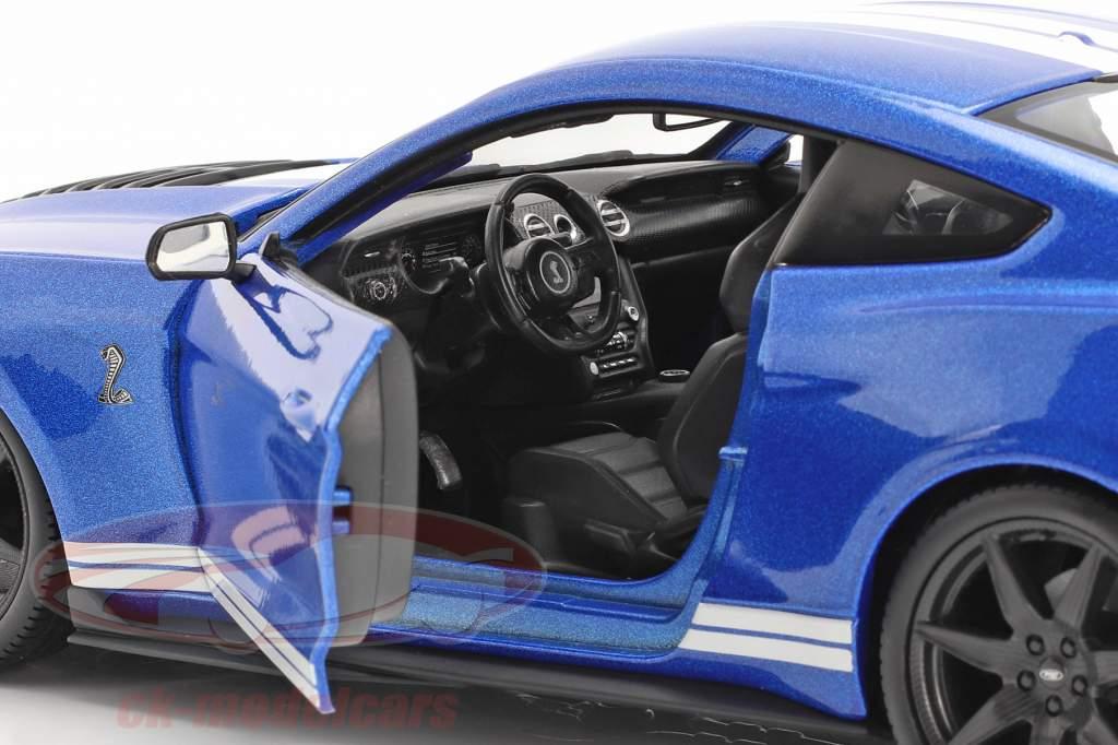Ford Mustang Shelby ano 2020 azul 1:18 Maisto