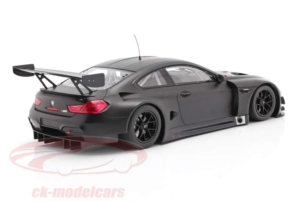 BMW M6 GT3 Plain Body Version Año de construcción 2016 estera negro 1:18 Minichamps