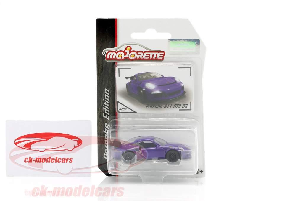 Porsche 911 GT3 RS purple 1:64 Majorette