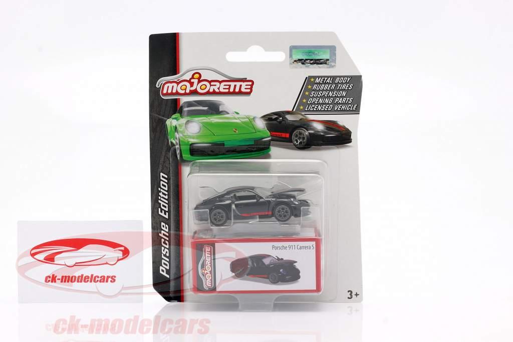 Porsche 911 Carrera S Coupe black / red 1:64 Majorette