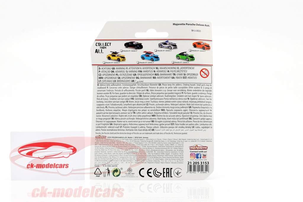 Porsche 911 Carrera S Coupe sort / rød 1:64 Majorette