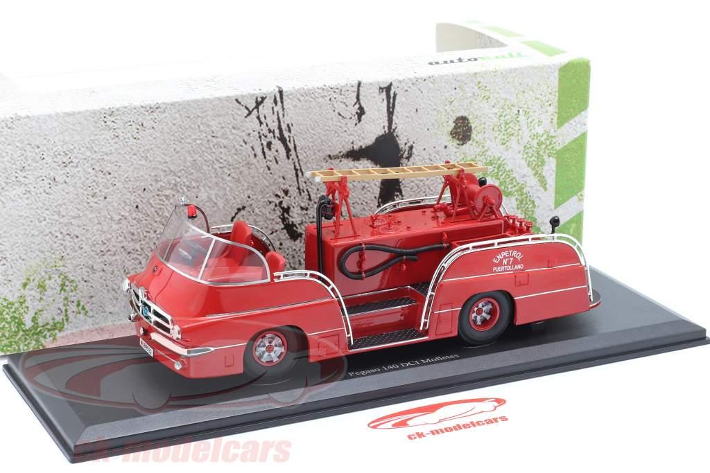 Pegaso 140 DCI Mofletes cuerpo de Bomberos Año de construcción 1959 rojo 1:43 AutoCult