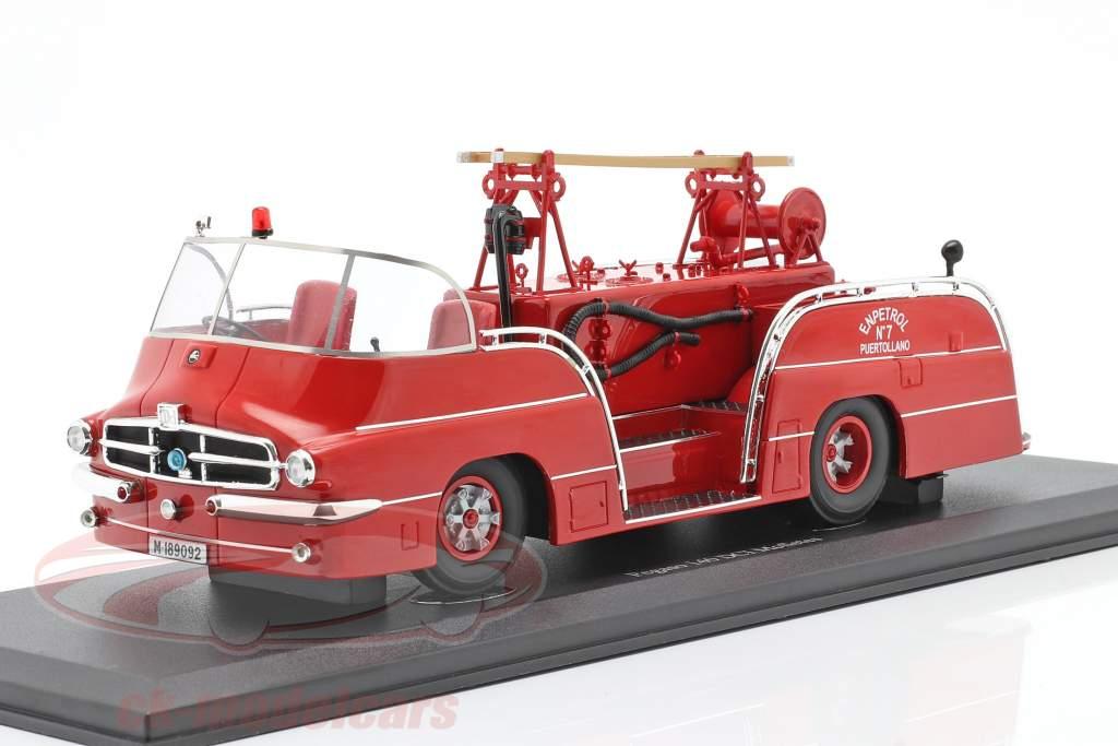 Pegaso 140 DCI Mofletes brandweer Bouwjaar 1959 rood 1:43 AutoCult