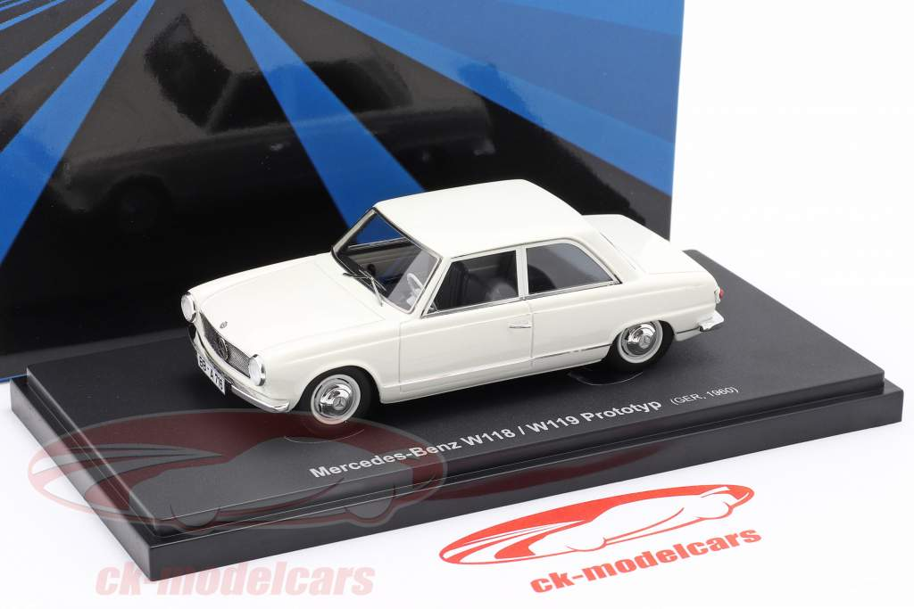 Mercedes-Benz W118 / W119 prototipo Anno di costruzione 1960 bianca 1:43 AutoCult