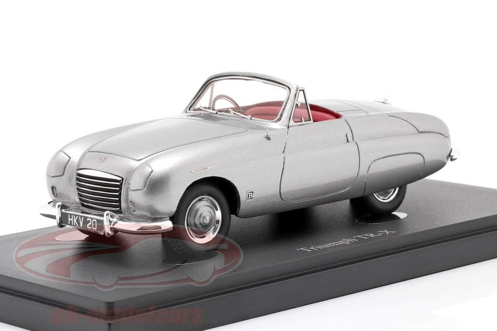 Triumph TR-X Año de construcción 1950 gris-plata metálico 1:43 AutoCult