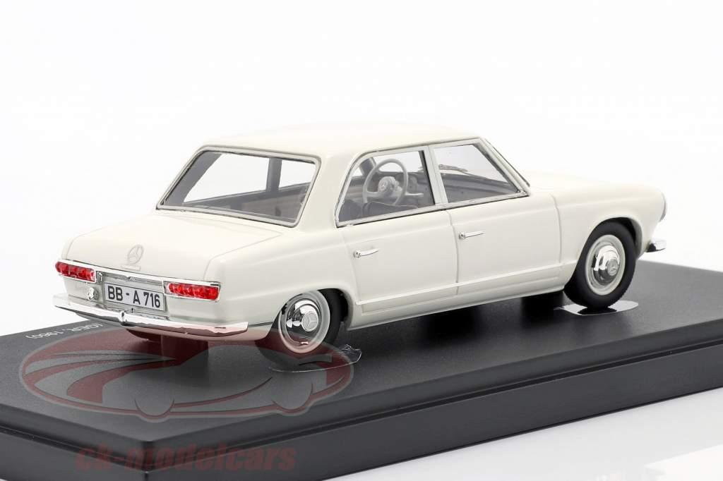 Mercedes-Benz W118 / W119 prototype Byggeår 1960 hvid 1:43 AutoCult