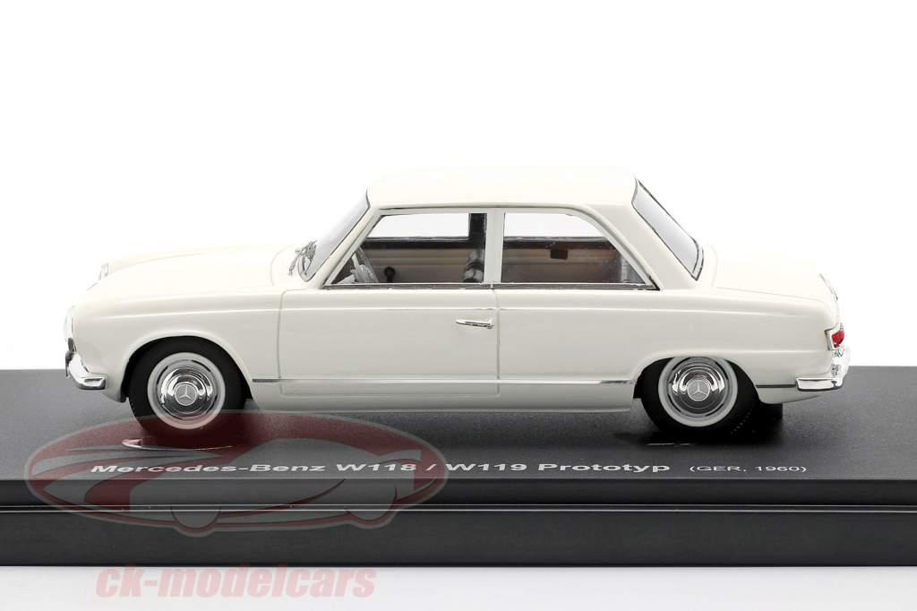 Mercedes-Benz W118 / W119 voorlopig ontwerp Bouwjaar 1960 Wit 1:43 AutoCult