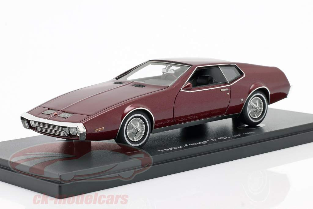 Pontiac Farago CF 428 year 1969 dark red 1:43 AutoCult
