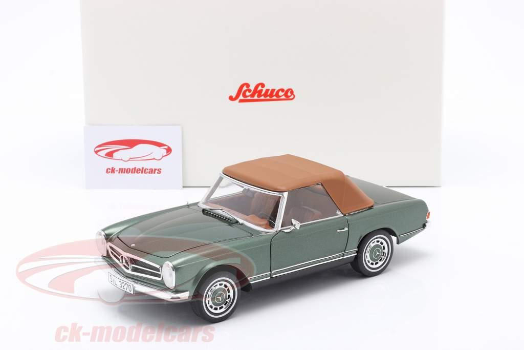 Mercedes-Benz 280 SL Pagode (W113) Anno 1963 - 1971 verde metallico 1:18 Schuco