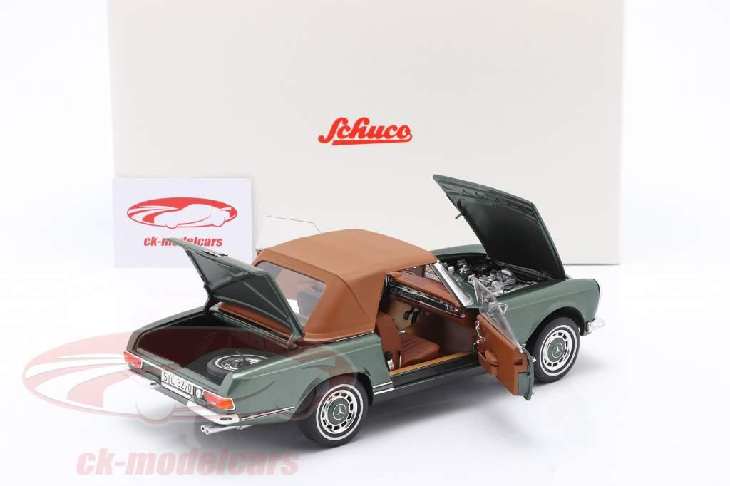 Mercedes-Benz 280 SL Pagode (W113) Bouwjaar 1963 - 1971 groen metalen 1:18 Schuco