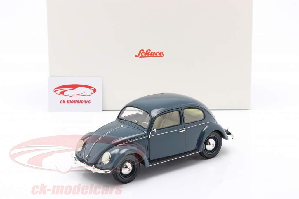 Volkswagen VW Pretzel bille 1948 - 1953 blå 1:18 Schuco