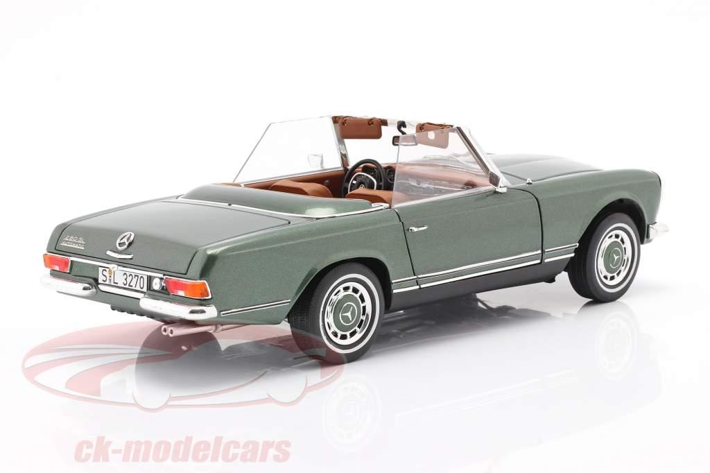 Mercedes-Benz 280 SL Pagode (W113) year 1963 - 1971 green 1:18 Schuco