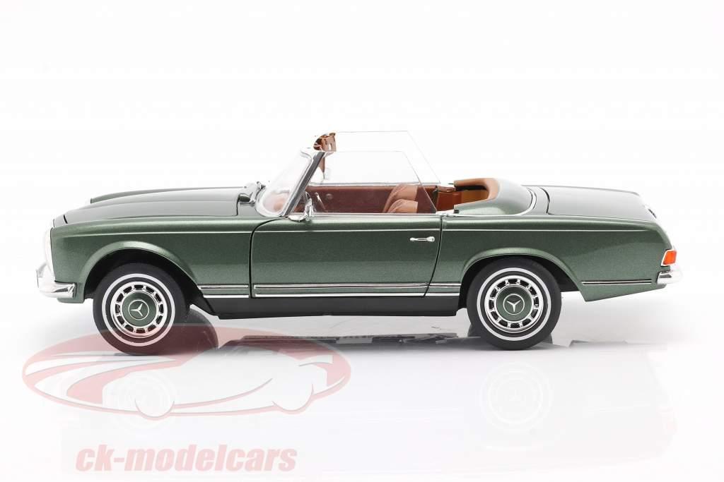 Mercedes-Benz 280 SL Pagode (W113) Année 1963 - 1971 vert métallique 1:18 Schuco