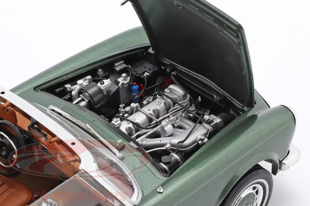 Mercedes-Benz 280 SL Pagode (W113) Byggeår 1963 - 1971 grøn metallisk 1:18 Schuco