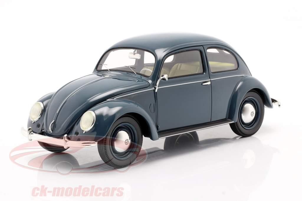 Volkswagen VW Pretzel kever 1948 - 1953 blauw 1:18 Schuco