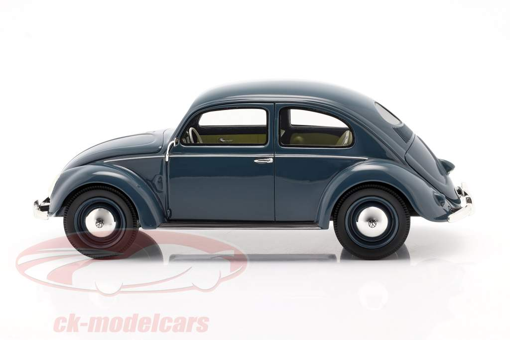 Volkswagen VW 椒盐脆饼甲虫 1948 - 1953 蓝色 1:18 Schuco