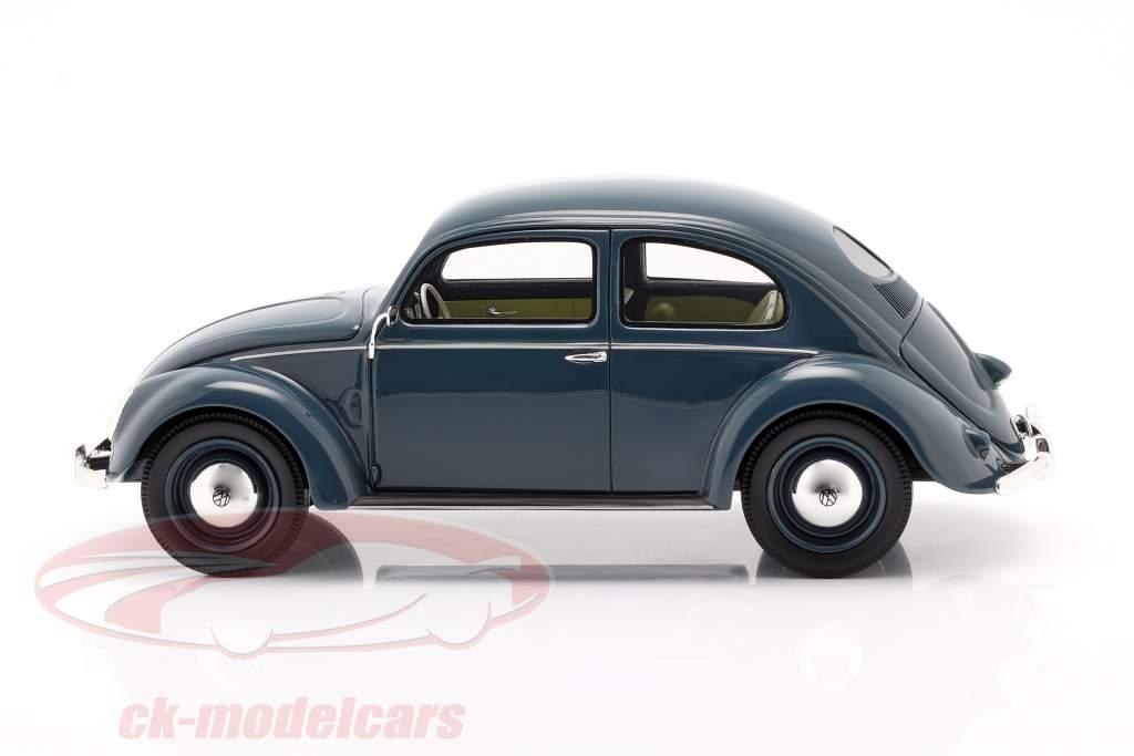 Volkswagen VW Brezelkäfer 1948 - 1953 blau 1:18 Schuco