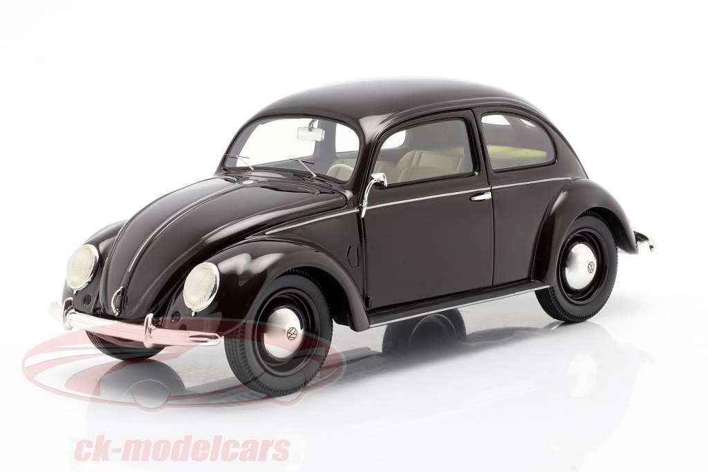 Volkswagen VW Pretzel kever 1948 - 1953 donker rood 1:18 Schuco
