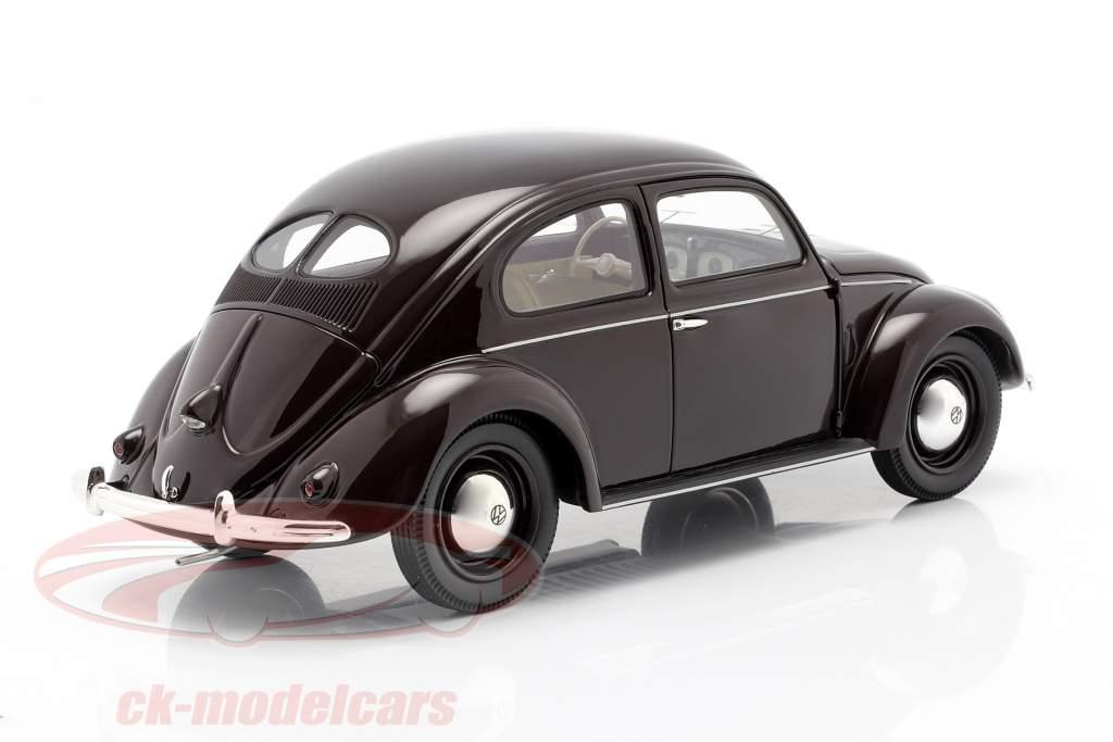 Volkswagen VW Scarabeo di pretzel 1948 - 1953 buio rosso 1:18 Schuco