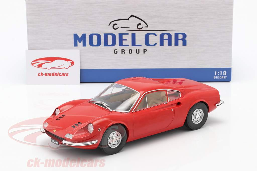 Ferrari Dino 246 GT Bouwjaar 1969 rood 1:18 Model Car Group