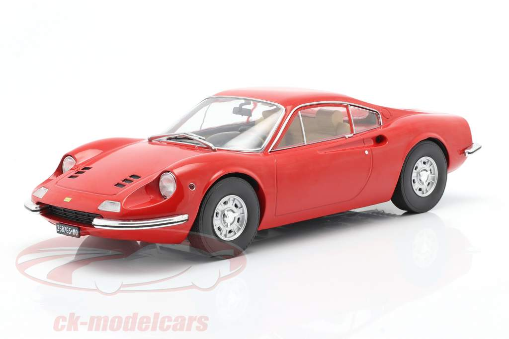 Ferrari Dino 246 GT Baujahr 1969 rot 1:18 Model Car Group