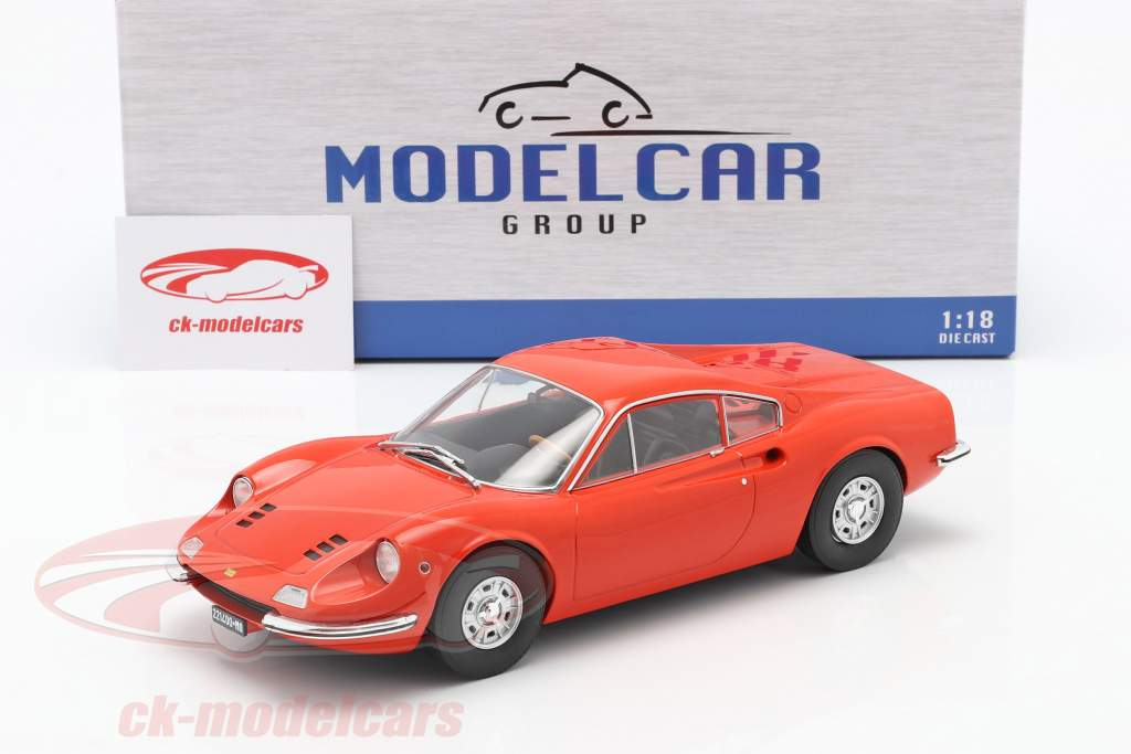 Ferrari Dino 246 GT Byggeår 1969 orange 1:18 Model Car Group