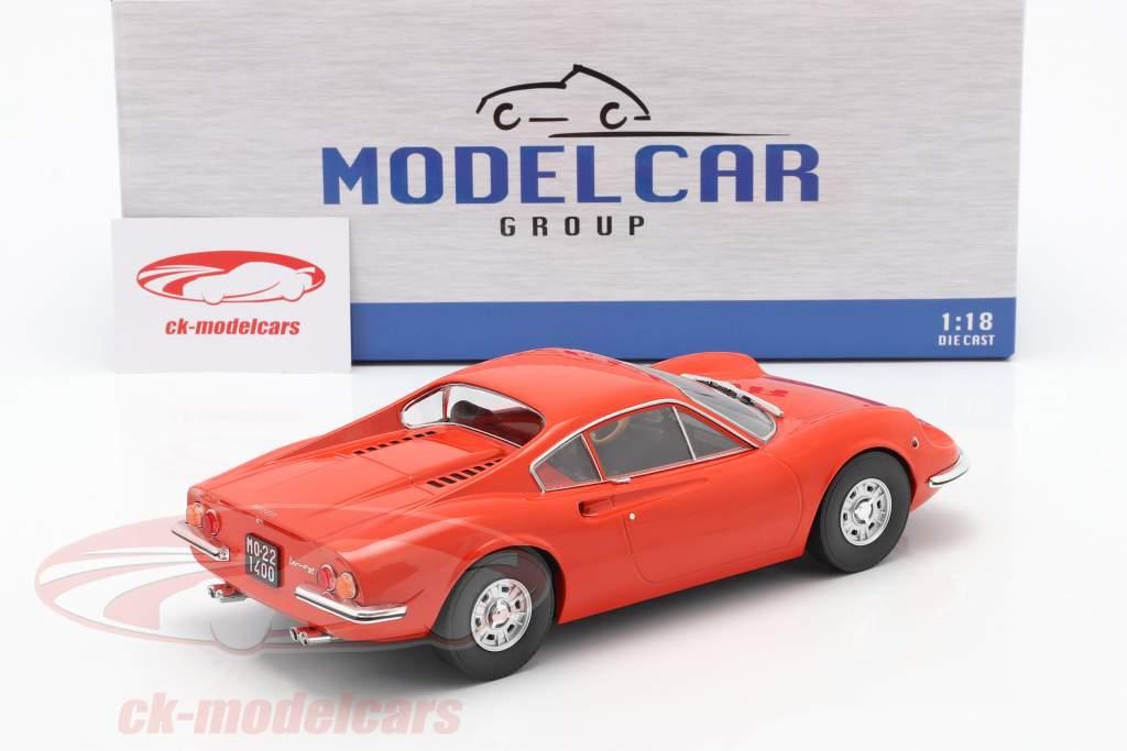 Ferrari Dino 246 GT Année de construction 1969 Orange 1:18 Model Car Group