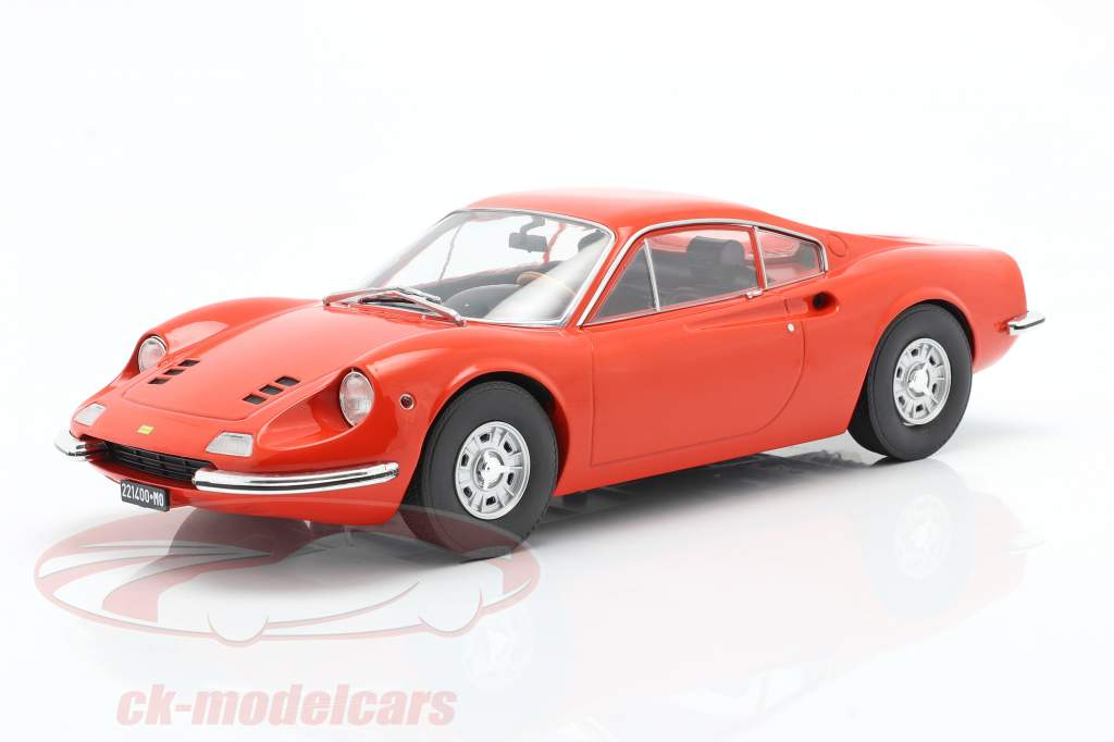 Ferrari Dino 246 GT Año de construcción 1969 naranja 1:18 Model Car Group