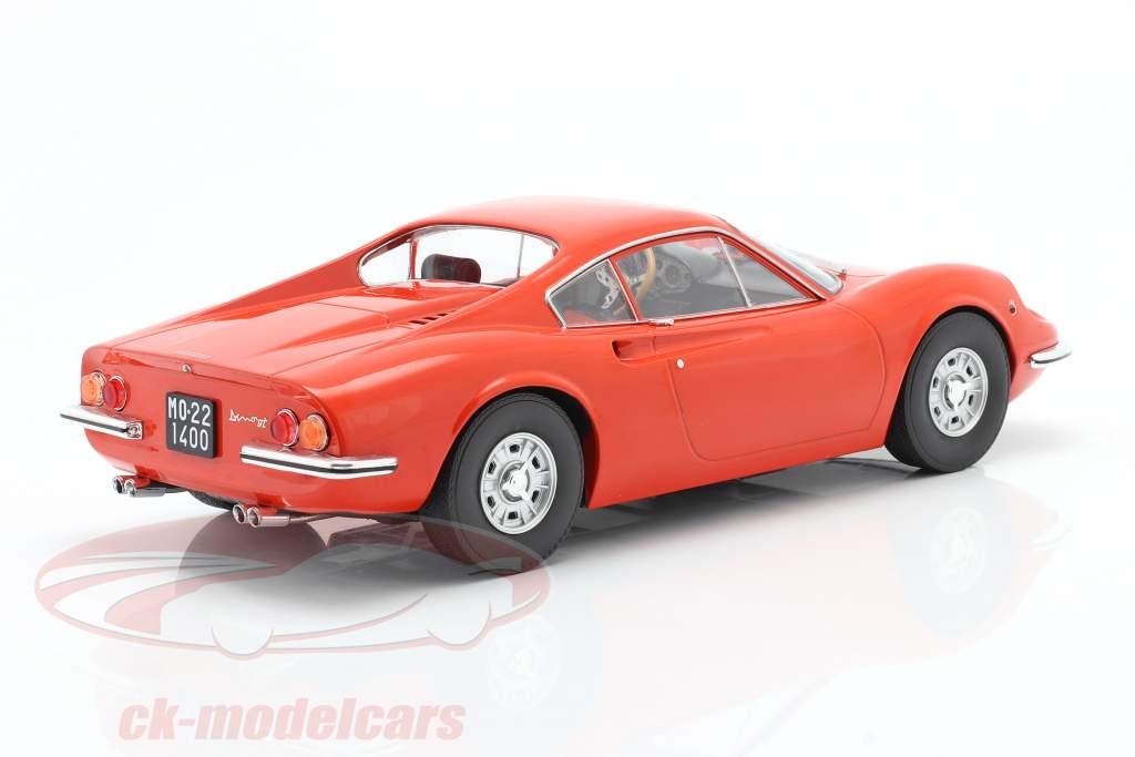 Ferrari Dino 246 GT year 1969 orange 1:18 Model Car Group