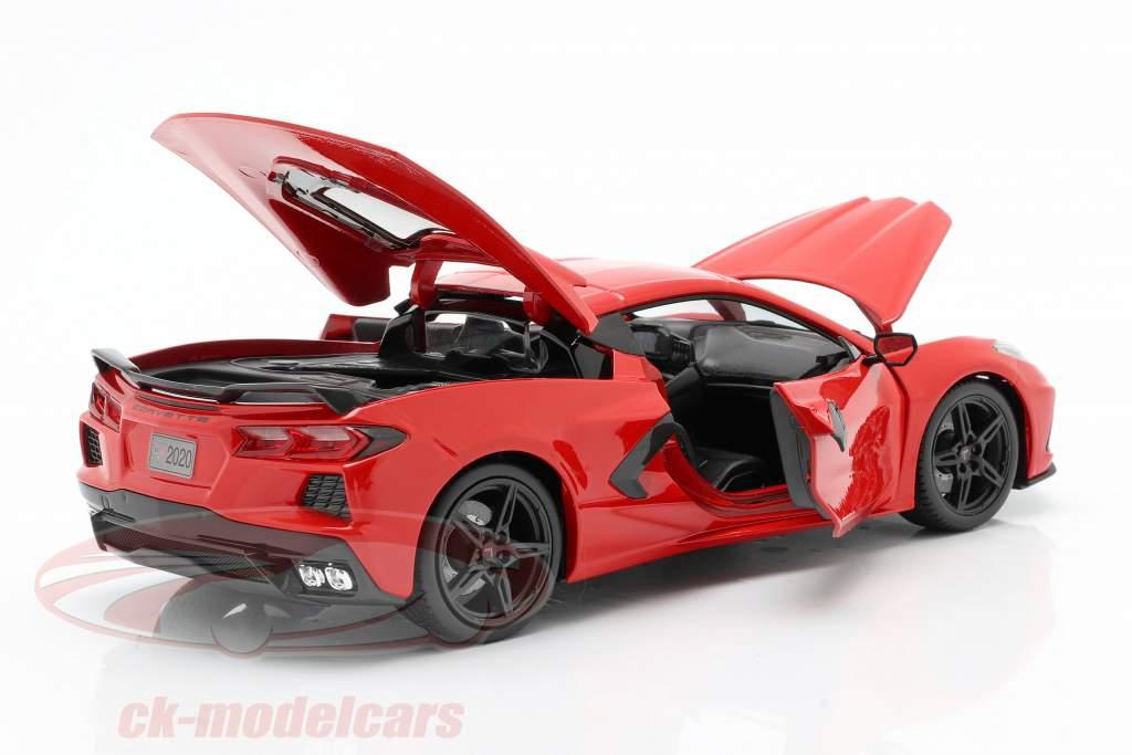 Chevrolet Corvette C8 Stingray Byggeår 2020 rød 1:18 Maisto