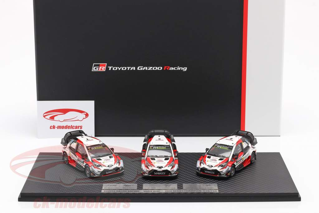 3 voitures Set Toyota Gazoo Racing WRC 2018 Series Du fabricant champion 1:43 Spark