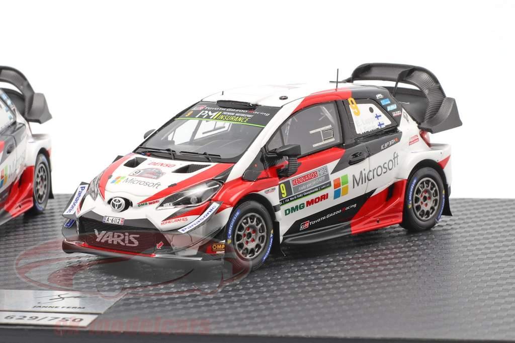 3-Car Set Toyota Gazoo Racing WRC 2018 Series Marken-Weltmeister 1:43 Spark