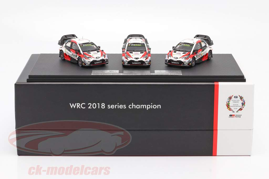 3 coches Set Toyota Gazoo Racing WRC 2018 Series Del fabricante campeón 1:43 Spark