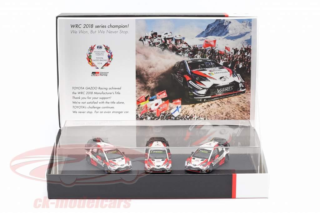 3 carros Set Toyota Gazoo Racing WRC 2018 Series Do fabricante campeão 1:43 Spark