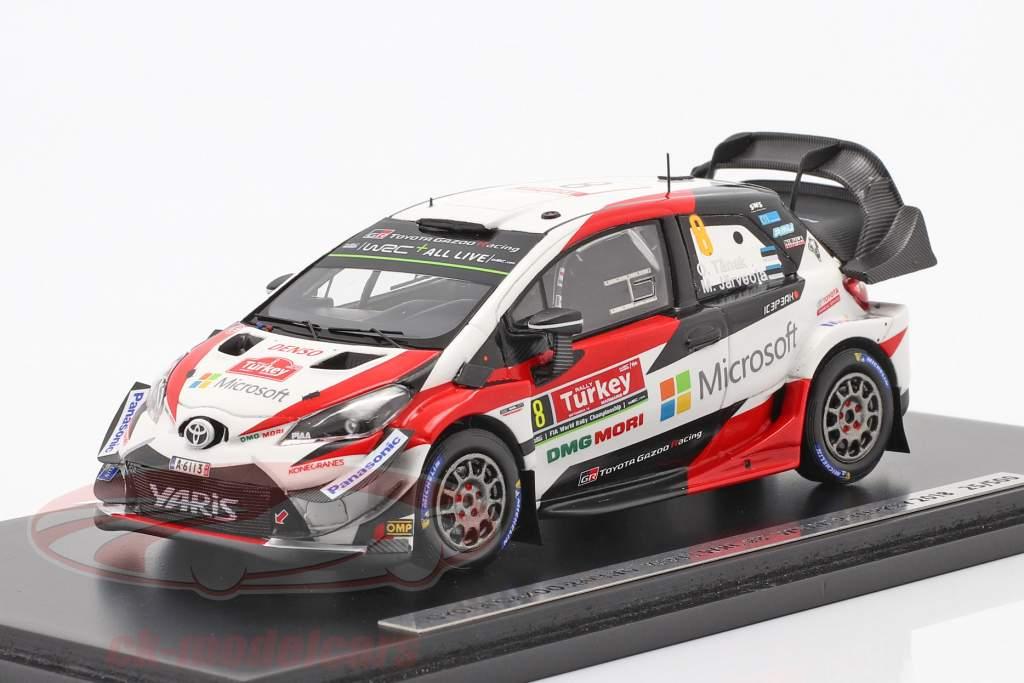 Toyota Yaris WRC #8 winnaar Rallye kalkoen 2018 Tänak, Järveoja 1:43 Spark