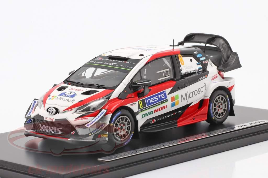 Toyota Yaris WRC #8 vinder Rallye Finland 2018 Tänak, Järveoja 1:43 Spark