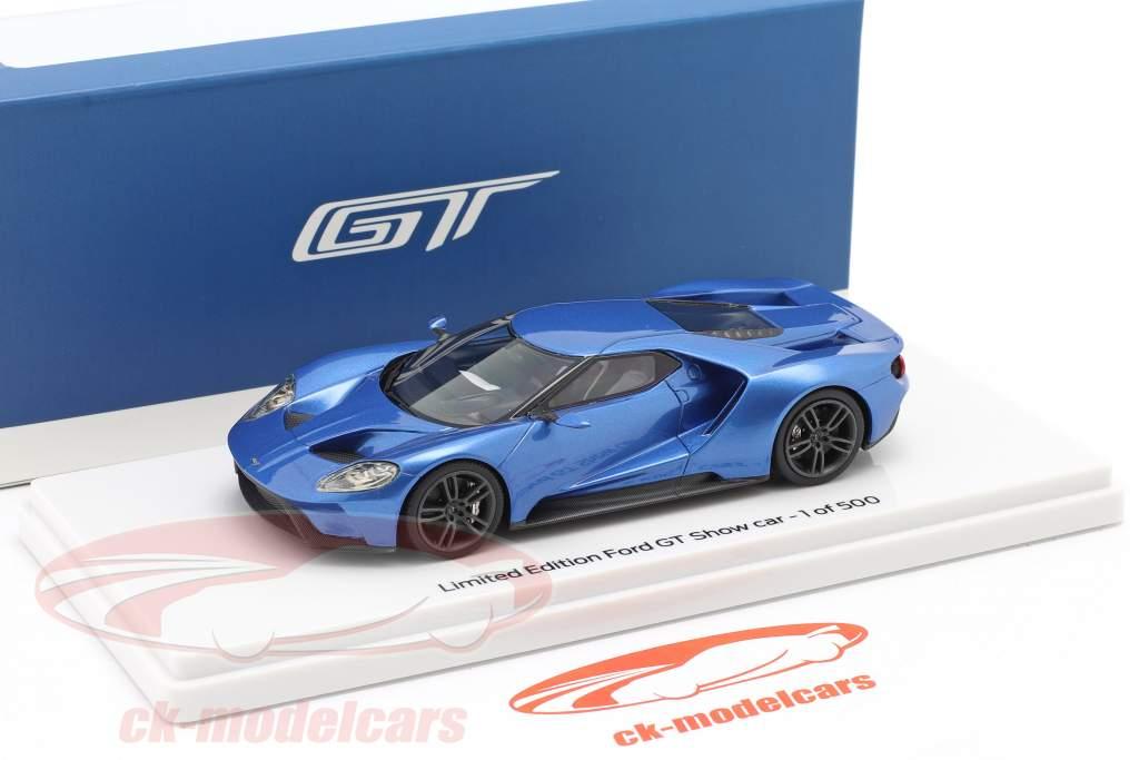 Ford GT Showcar blu metallico 1:43 TrueScale