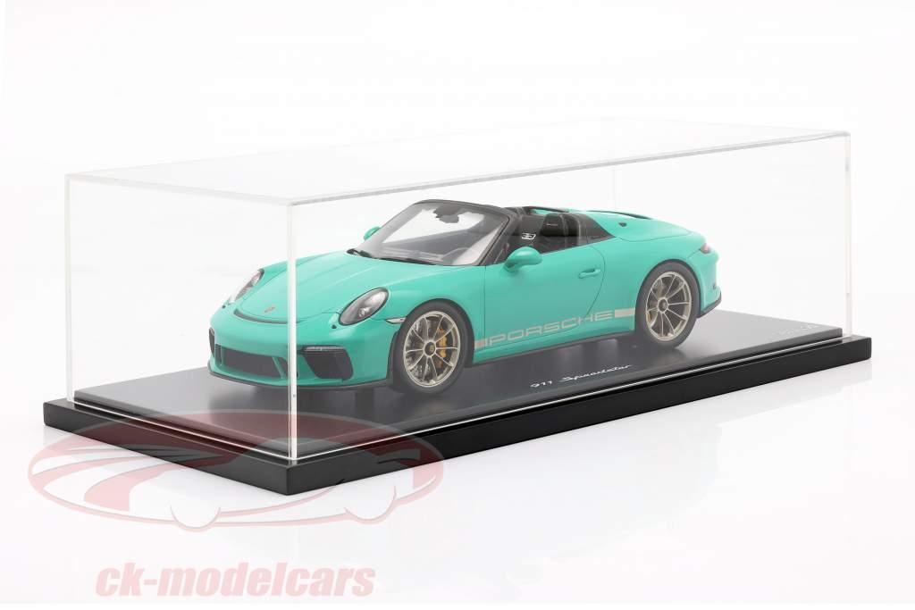 Porsche 911 (991 II) Speedster Vert Jade Avec Vitrine 1:18 Spark