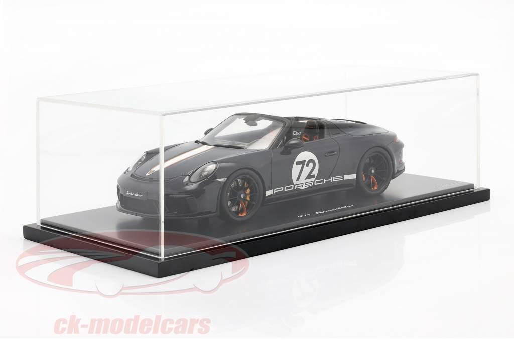 Porsche 911 (991 II) Speedster #72 havblå Med Udstillingsvindue 1:18 Spark