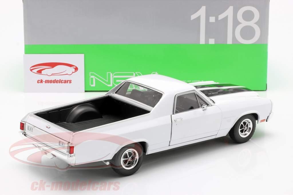 Chevrolet El Camino anno 1970 bianco / nero 1:18 Welly